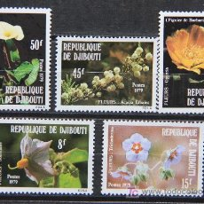 Sellos: DJIBOUTI 1979 SELLOS NUEVOS FLORES FLOWERS FL-13. Lote 42114436