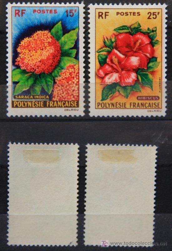 POLINESIA FRANCESA 1962 SELLOS NUEVOS MH FLORES FLOWERS FL-60 (Sellos - Temáticas - Flora)
