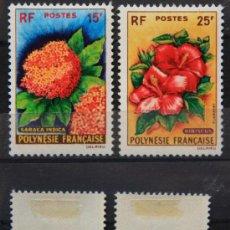 Sellos: POLINESIA FRANCESA 1962 SELLOS NUEVOS MH FLORES FLOWERS FL-60. Lote 27202630