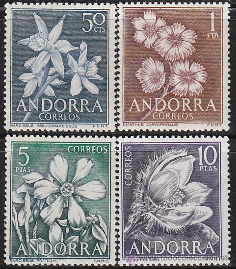 ANDORRA EDIFIL Nº 068/71, FLORES DEL PRINCIPADO, NUEVO (Sellos - Temáticas - Flora)