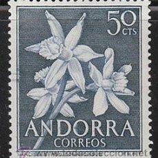 Sellos: ANDORRA EDIFIL Nº 68, FLORES DEL PRINCIPADO (NARCISO), NUEVO. Lote 20307189