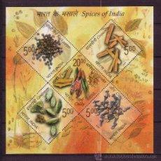 Sellos: INDIA HB 67** - AÑO 2009 - FLORA - ESPECIAS DE INDIA. Lote 27036016