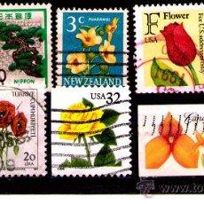 Sellos: LOTE SELLOS FLORA / PLANTAS / FLORES (AHORRA GASTOS COMPRANDO MAS SELLOS. Lote 22762890