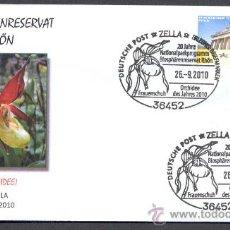Sellos: ALEMANIA 2010. MATASELLO ESPECIAL. ORQUIDEAS.. Lote 22966581