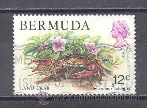 BERMUDAS,TEMA FLORES, USADO (Sellos - Temáticas - Flora)