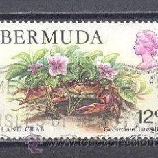 Sellos: BERMUDAS,TEMA FLORES, USADO. Lote 25318751