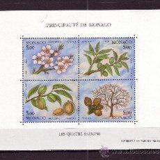 Sellos: MONACO HB 60** - AÑO 1993 - FLORA - ÁRBOLES - LAS CUATRO ESTACIONES DEL ALMENDRO. Lote 195436657