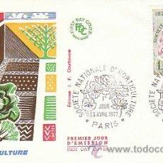 Sellos: FRANCIA IVERT 1931, SOCIEDAD NACIONAL DE HOTICULTURA (ROSAS), PRIMER DIA DE 23-4-1977. Lote 25909067
