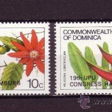 Sellos: DOMINICA 806/07*** - AÑO 1984 - FLORA - FLORES - CONGRESO DE LA UNION POSTAL UNIVERSAL EN HAMBURGO . Lote 25959674