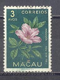 MACAU- REPUBLICA PORTUGUESA- FLORA-USADO (Sellos - Temáticas - Flora)