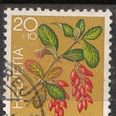 Sellos: SUIZA IVERT 1014, PRO JUVENTUTE (PLANTAS MEDICINALES), USADO. Lote 27005927
