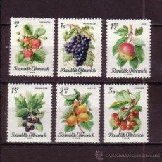 Sellos: AUSTRIA 1058/63*** - AÑO 1966 - FLORA - FRUTOS. Lote 27862573