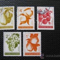 Sellos: BULGARIA, TEMA FLORES/FRUTOS . Lote 29132263