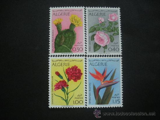 ARGELIA 1969 IVERT 484/7 *** FLORES DIVERSAS - FLORA (Sellos - Temáticas - Flora)