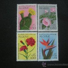 Sellos: ARGELIA 1969 IVERT 484/7 *** FLORES DIVERSAS - FLORA. Lote 30362731