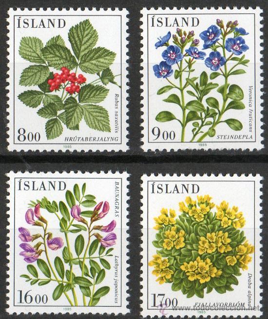 ISLANDIA AÑO 1985 YV 581/84*** FLORA - FLORES Y PLANTAS (Sellos - Temáticas - Flora)