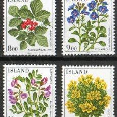 Sellos: ISLANDIA AÑO 1985 YV 581/84*** FLORA - FLORES Y PLANTAS. Lote 30590357