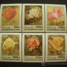 Sellos: AZERBAIJAN 1996 IVERT 282/7 *** FLORA - ROSAS. Lote 30821808