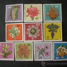 Sellos: RWANDA 1968 IVERT 253/62 *** FLORES DIVERSAS - FLORA. Lote 49982612