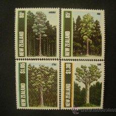 Sellos: NUEVA ZELANDA 1989 IVERT 1034/7 *** FLORA - ARBOLES DE NUEVA ZELANDA. Lote 32074800