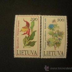 Sellos: LITUANIA 1992 IVERT 430/1 *** FLORA - FLORES SILVESTRES. Lote 32168849
