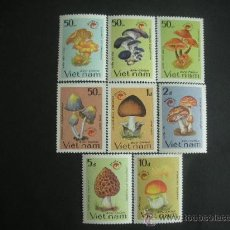 Sellos: VIETNAM 1990 IVERT 1078/85 *** AÑO DEL TURISMO - FLORA - SETAS. Lote 32410861
