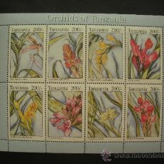 Sellos: TANZANIA 1994 IVERT 1484/91 *** FLORA - ORQUIDEAS (I). Lote 32534512