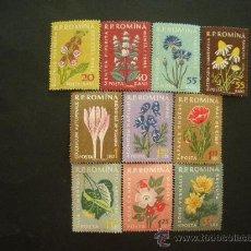 Sellos: RUMANIA 1959 IVERT 1652/61 *** FLORA - PLANTAS MEDICINALES. Lote 32614555