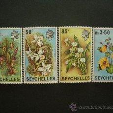 Sellos: SEYCHELLES 1970 IVERT 275/8 *** FLORA - FLORES DIVERSAS. Lote 32616284