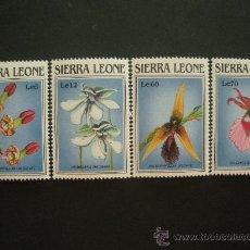Sellos: SIERRA LEONA 1989 IVERT 1004/7 *** FLORA - ORQUIDEAS (I). Lote 32616452