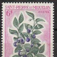 Sellos: SAINT PIERRE ET MIQUELON IVERT Nº 404, VACCINIUM MYRTILLUS, NUEVO. Lote 33066067