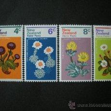 Sellos: NUEVA ZELANDA 1972 IVERT 567/70 *** FLORA - FLORES DE MONTAÑA. Lote 33446816