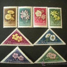 Sellos: HUNGRIA 1958 IVERT 1249/56 *** FLORA - FLORES DIVERSAS . Lote 33447985