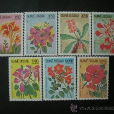 Sellos: GUINEA BISSAU 1983 IVERT 217/23 *** FLORA - FLORES TIPICAS. Lote 33448339