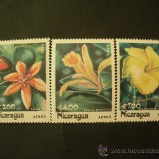 Sellos: NICARAGUA 1985 AEREO IVERT 1090/2 *** FLORA - FLORES LOCALES. Lote 33448965