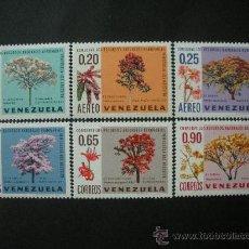 Sellos: VENEZUELA 1969 IVERT 777/9 Y AEREO 967/9 *** FLORA - CONSERVACIÓN RECURSOS NATURALES - ARBOLES. Lote 33449039