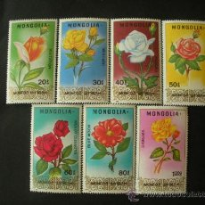 Sellos: MONGOLIA 1988 IVERT 1580/6 *** FLORA - ROSAS - FLORES . Lote 34086196