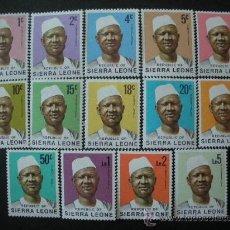 Sellos: SIERRA LEONA 1972 IVERT 386/99 * SERIE BÁSICA - PRESIDENTE SIAKA STEVENS - PERSONAJES. Lote 34115746