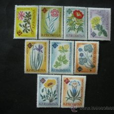 Sellos: RUMANIA 1961 IVERT 1818/26 *** CENTENARIO JARDIN BOTÁNICO DE BUCAREST - FLORES - FLORA . Lote 34129042