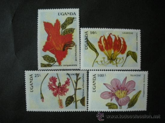 UGANDA 1988 IVERT 506/9 *** FLORA (I) - FLORES DIVERSAS (Sellos - Temáticas - Flora)
