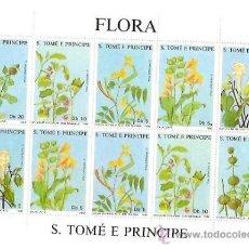 Sellos: SELLOS S TOME E PRINCIPE FLORA AÑO 1988 TEMA FLORES . Lote 34391326