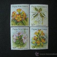 Sellos - Papua y Nueva Guinea 1989 Ivert 579/82 *** Flora - Flores - Rododendros - 34518142