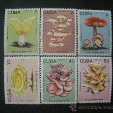 Sellos: CUBA 1989 IVERT 2907/12 *** FLORA - SETAS DIVERSAS - CHAMPIÑONES. Lote 35150607