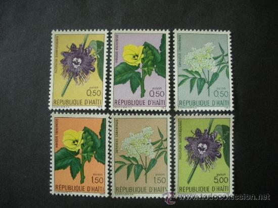 HAITI 1965 AEREO IVERT 318/23 *** FLORA - FLORES DIVERSAS (Sellos - Temáticas - Flora)