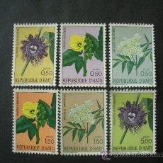 Sellos: HAITI 1965 AEREO IVERT 318/23 *** FLORA - FLORES DIVERSAS. Lote 35828730