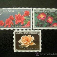 Sellos: LUXEMBURGO 1997 IVERT 1360/62 *** FLORA - FLORES - ROSAS . Lote 36686835