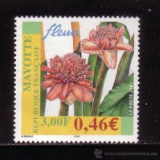Timbres: MAYOTTE 107*** - AÑO 2001 - FLORA - FLORES. Lote 37045588