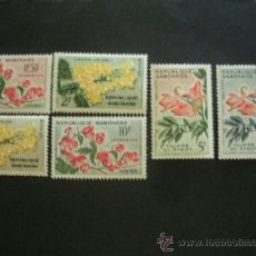 Sellos - Gabon 1961 Ivert 153/8 *** Flora - Flores Diversas - 39814284