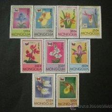 Sellos: MONGOLIA 1997 IVERT 2123/31 *** FLORA Y FAUNA - ORQUIDEAS Y MARIPOSAS . Lote 37338737