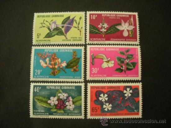 GABON 1972 IVERT 283/8 *** FLORA - FLORES DIVERSAS (Sellos - Temáticas - Flora)